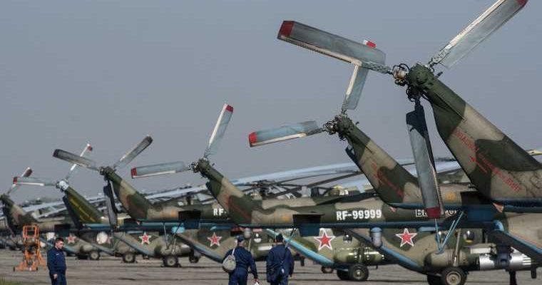 испытания на вертолете МИ