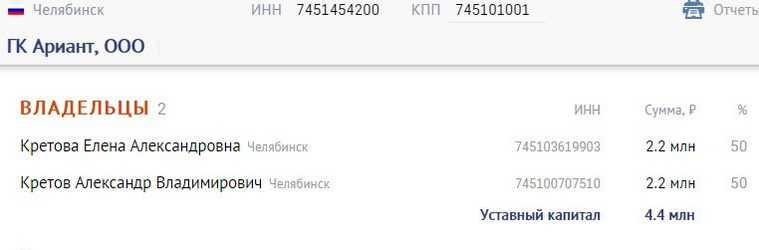 Челябинский олигарх Аристов передал свой бизнес дочери и зятю. Скрин