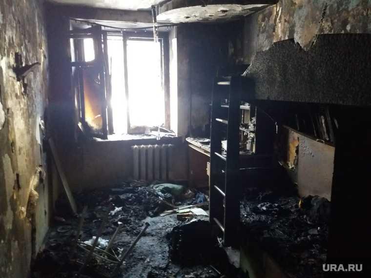 пожар Екатеринбург Рассветная