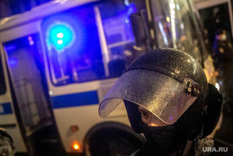 в Челябинске и Кургане начались задержания на митингах